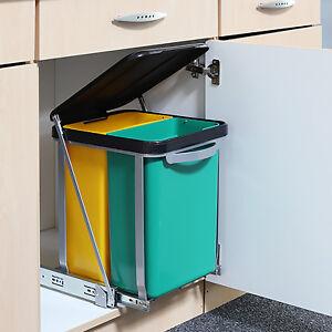 Einbau - Abfalleimer für die Küche Mülleimer Trennsystem ...