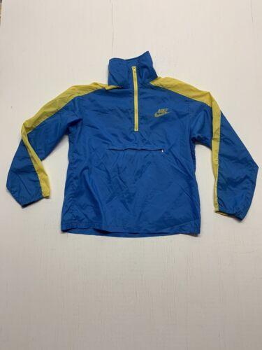 VINTAGE 1980-1983 NIKE windbreaker BLUE / Yellow X