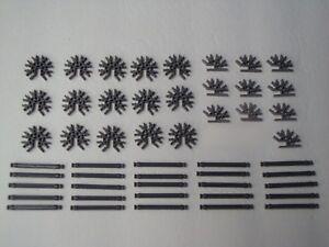 MICRO-KNEX-50-Grey-Silver-Rods-amp-3D-Connectors-Bulk-Mini-Parts-Pieces-Lot-Round