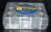 Clear Bead Findings Storage Case--12 Boxes Jewelry Container Organizer