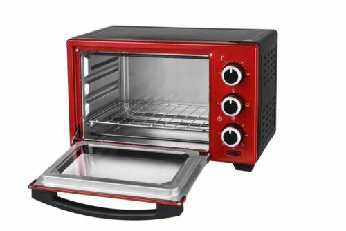 16 Liter Multiofen Pizzaofen Multifunktionsofen rot 1280 W ROT *45516 B-Ware