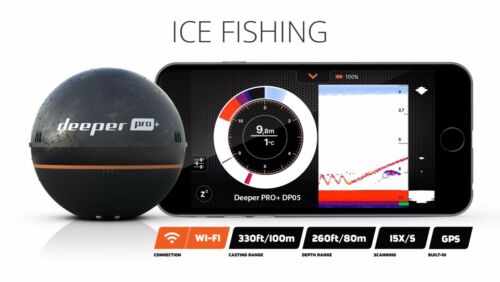 Wireless Sonar iOS /& Android Devices Compatible Fishfinder Deeper Pro Plus