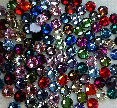 50 SWAROVSKI Crystal Rhinestones Crystal FlatBack MIX 30ss