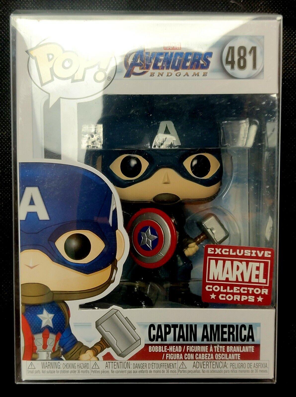 Funko Pop  Marvel  capitán América Con Mjolnir-Colector Corps Exclusivo