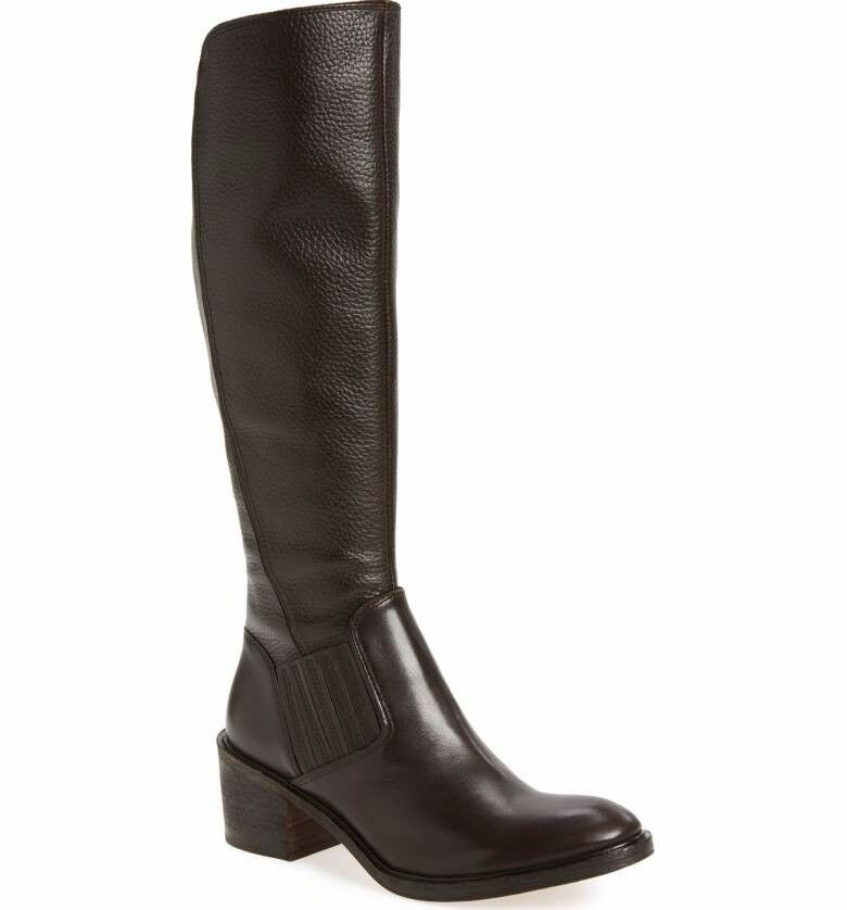 Brand New DONALD J PLINER Envy Tall Black Leather Boot Size 5M, MSRP  398