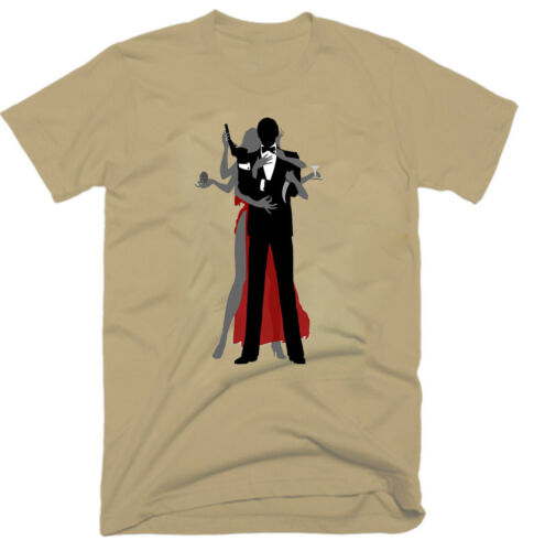 100/% coton G0710 action T-shirt homme vieux film James Bond aventure 1973