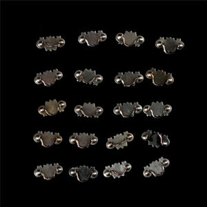 20pcs Dollhouse Miniature 1:12 Scale Gold Brass Cabinet Drawer Handles Pulls W6