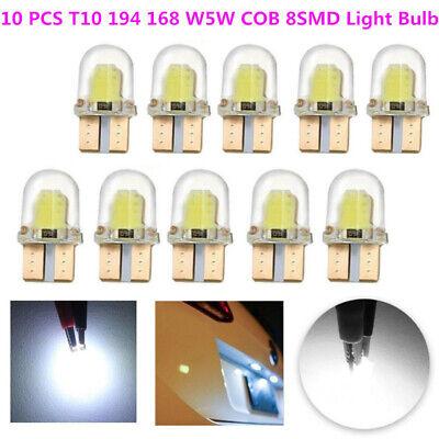 10x T10 194 168 W5W COB 8SMD LED CANBUS Silica Bright License Light Bulbs White
