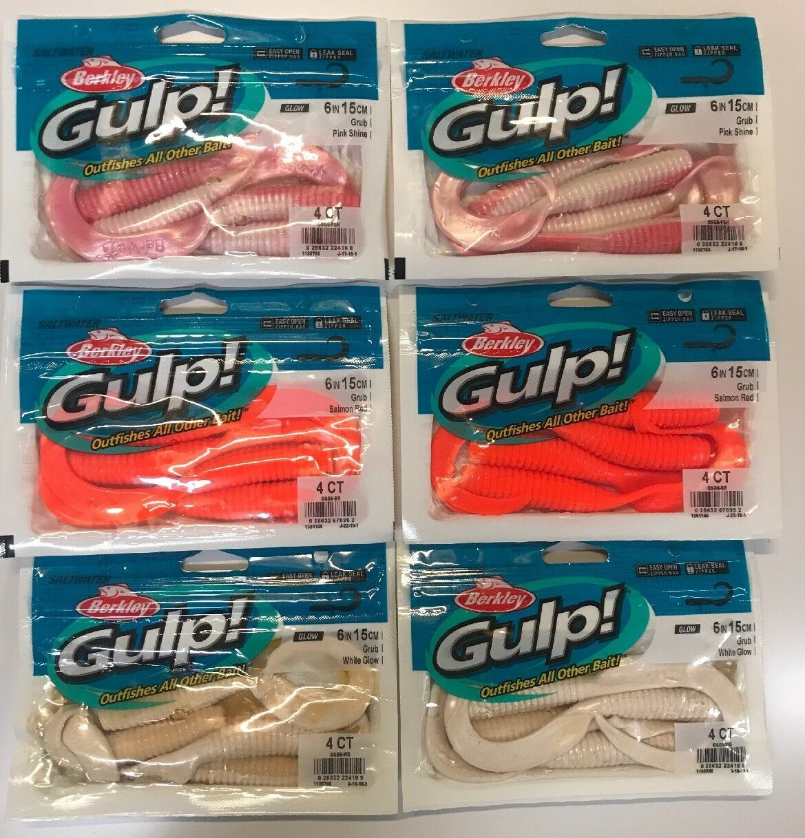 Berkley Gulp  6   Grub 4ct. Variety 6pk. Bundle  no tax