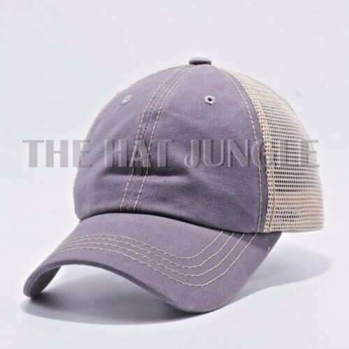 Burgundy Plain Pigment Dyed Unstructured Dad Hat Trucker Buckle Baseball Cap
