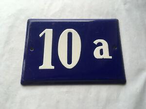 Emailleschild-Emailschild-Schild-Hausnummer-Hausnummernschild-blau-10-a-10a-top