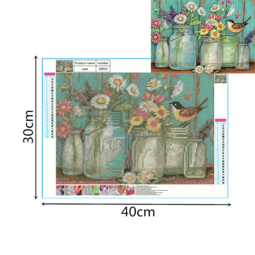 5D Diamond Painting Landscape Cross Stitch Animals Kits Full Drill Embroidery UK