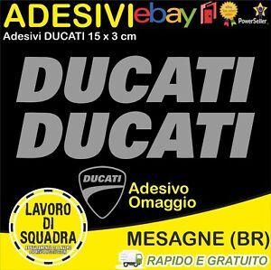 2-Adesivi-Sticker-DUCATI-serbatoio-916-996-998-999-748-PANIGALE-FACTORY-ARGENTO