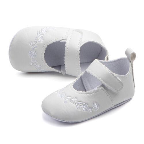 Newborn Baby Girls Crib Pram Shoes Kids Soft Sole Anti Slip Walkers Sneaker CN