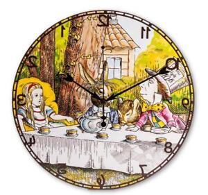 Alice-au-Pays-des-Merveilles-vers-L-039-Arriere-pendant-Mur-Horloge-Decoration-Fete