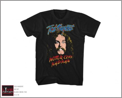 TED NUGENT Motor City Madman T-shirt Licensed 100/% Cotton Mens Tee New