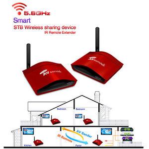 990ft wireless video audio tv switch transmitter receiver sender ir repeater ebay. Black Bedroom Furniture Sets. Home Design Ideas