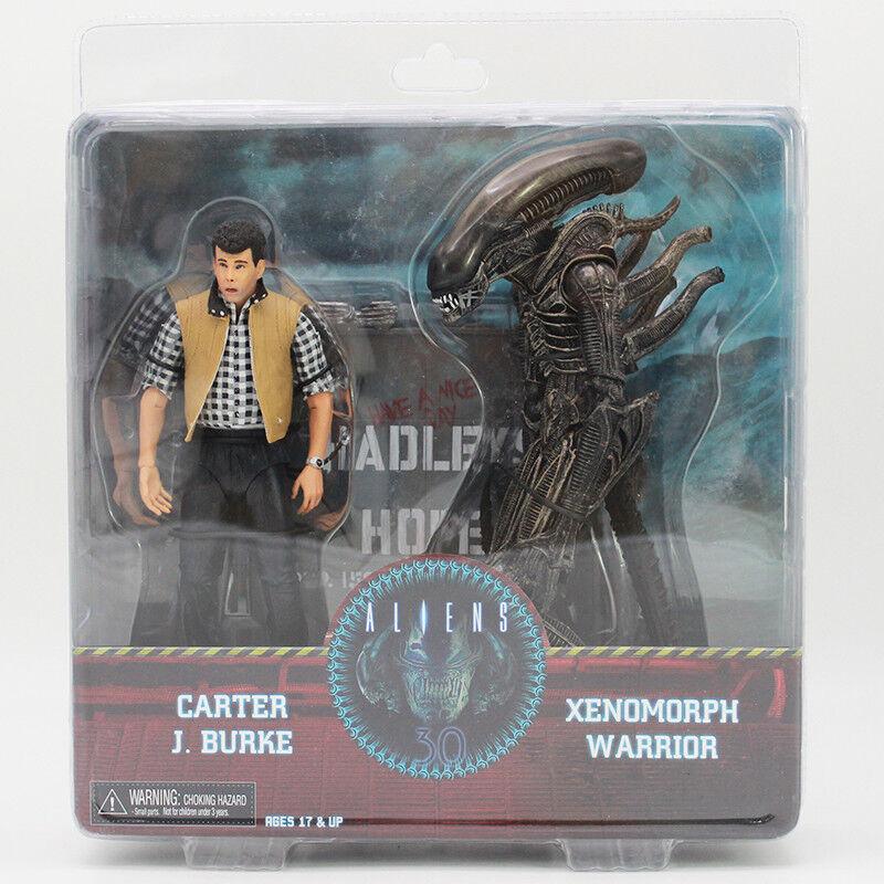 Aliens Carter J Burke VS Xenomorph Warrior PVC Action Figure Model Toy