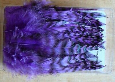 Whiting  Grizzly-Saddle Hackle. Feather.Thread,Floss Craft. Yarn Fly Tying