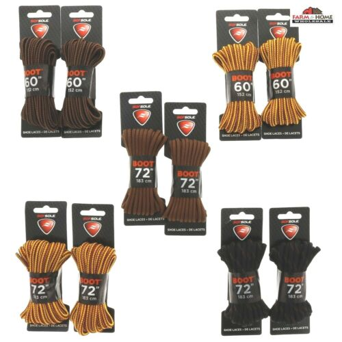 """Sof Sole Boot Laces  60/"""" 72/"""" ~ 2 Sets ~ New"""
