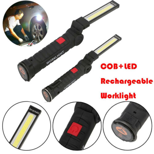 led cob rechargeable work light flexible torch magnetic inspection