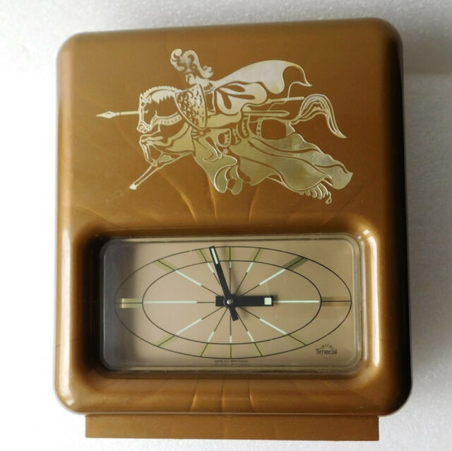 Vintage Smiths Timecal mantel clock with alarm spares repairs NOT WORKING 1970s