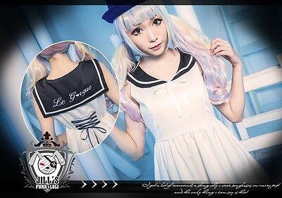 lolita liz lisa Milky highschool sailor collar japan uniform shift dress 80911