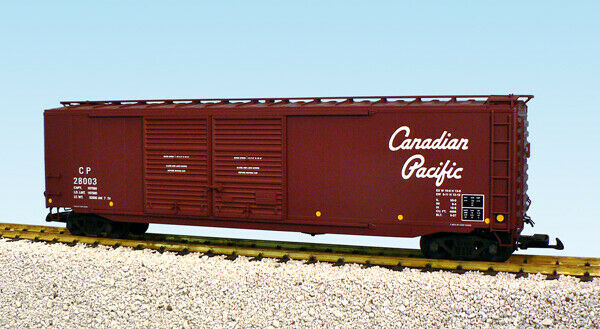 USA Trains G Scale 50 Ft Double Door Box Car R19327B Canadian Pacific - Tuscan