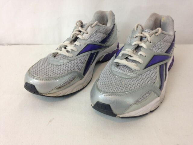a6a7412b422 Reebok DMX Ride Womens 8 1 2 Silver Purple Running Walking SNEAKERS ...