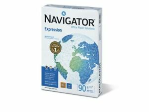 Box 5 x 500 sheets - Navigator Expression Paper White, A4, 90gsm, Free P&P!