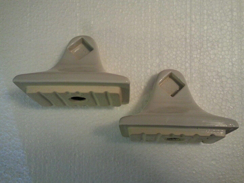 Vintage Vintage Vintage Light grau Ceramic Towel Bar Rod Holders Posts Mid Century Modern Retro d37a5a