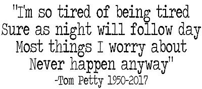 Tom Petty vinyl decal sticker laptop record Crawling Back to You quote |  eBay