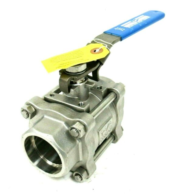 "MILWAUKEE VALVE 10SSOD-02-LL 3//4 3//4/"" FNPT Stainless Steel Fire Safe Ball Valve"