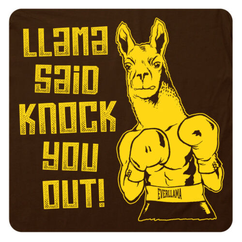 Cool /& Funny LL COOL J 80/'s SuperSoft Graphic T-SHIRT! LLAMA Said Knock You OUT