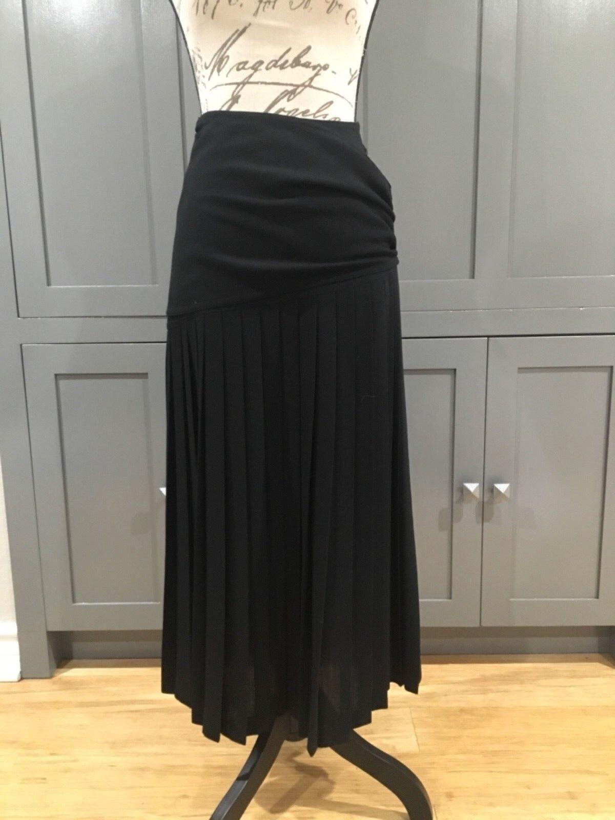 ESA Margaret Ley COUTURE Top Designer Laine d& 039;une jupe plissée 34 Great condition