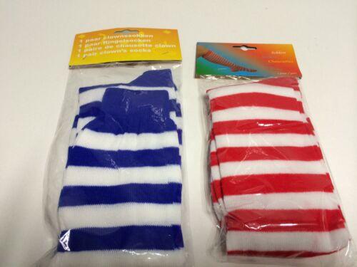 Rayures chaussettes bleu blanc rouge blanc choix de couleur possible Carnaval