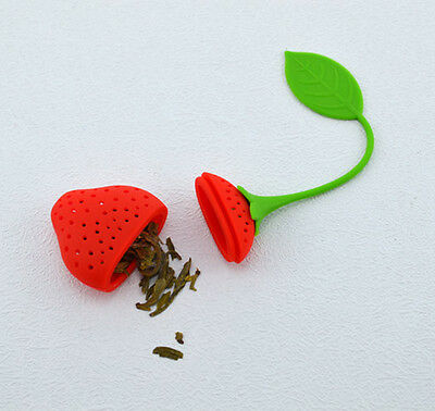 Tea Maker Infuser Filter Kitchen Tool Strawberry Tea Leaf Strainer Herbal Spice