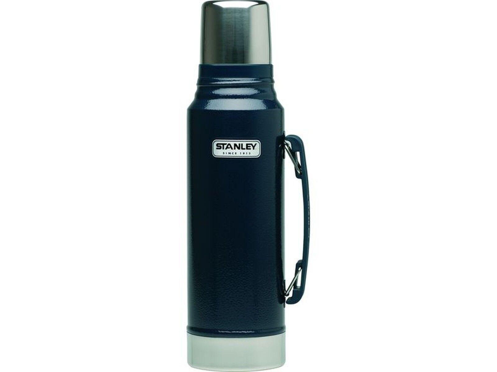 Stanley Classic sotto inox, vuoto bottiglia, 1 LITRI, 18/8 in acciaio inox, sotto Navy, 624000 61c21a