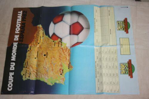 rare POSTER  )) Coupe du Monde 1982 Espagne / calendrier / RENAULT