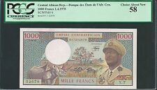 Central African Empire 1978 P-6 PCGS Choice About New UNC 58 1000 Francs
