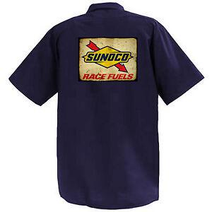 SUNOCO-RACE-COMBUSTIBILI-MECCANICA-Graphic-Work-Shirt-a-Manica-Corta