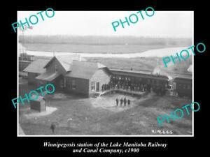 OLD-LARGE-HISTORIC-PHOTO-OF-WINNIPEGOSIS-CANADA-THE-RAILWAY-STATION-c1900