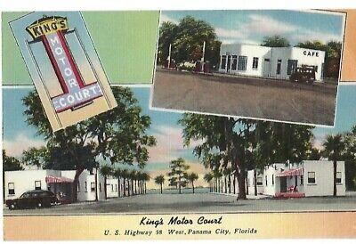 Vintage Postcard Kings Motor Court Panama City Beach Florida   eBay