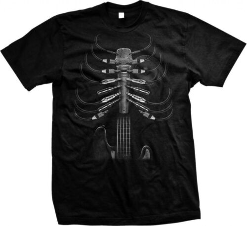 Music Is In My Bones Rock /& Roll Skeleton Guitar Oversized Design Men/'s T-shirt