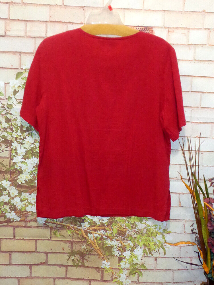 Brick Red Blouse Perfect when worn with jeans! size S P