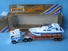 Matchbox Convoy Kenworth Poer Launch Transporter Boat Boxed Toy Model