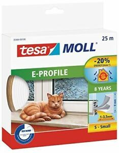 Importé De L'éTranger Tesa Moll Guarnizione X Porte E Finestre Profilo E In Gomma 25m X Spessore 1-3mm