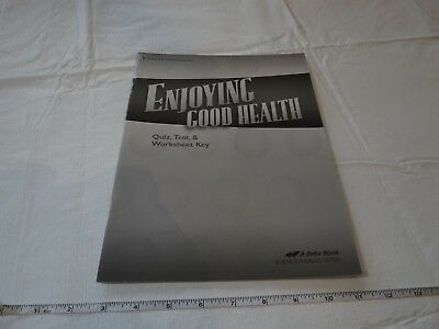 Enjoying good Health book a Beka home school 5 teacher quiz test worksheet key