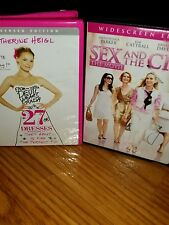 Lot of 2 -27 Dresses (DVD, 2008, Widescreen) & Sex and the City the Movie (2008)