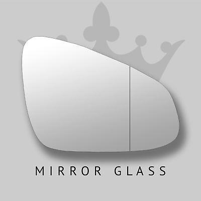 Mano SINISTRA lato passeggero per CITROEN C1 2014-2016 convesso WING DOOR MIRROR GLASS